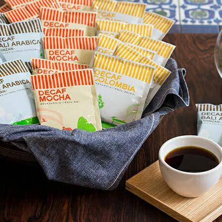【ふるさと納税】カフェインレス ドリップコーヒー 3種100杯 詰め合わせ デカフェ 安心 安全