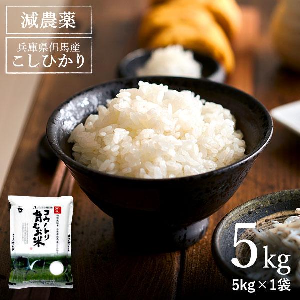 【ふるさと納税】コウノトリ育むお米減農薬 (5kg×1袋)(94-004)