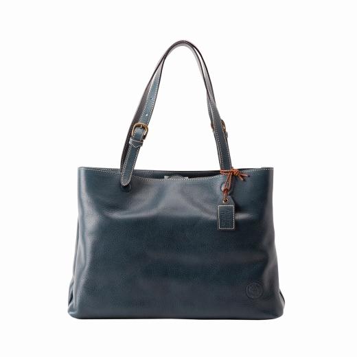 【ふるさと納税】トートバッグ 豊岡鞄 parcel トート(ネイビー)/ カバン かばん