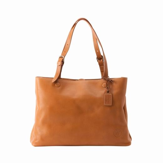 【ふるさと納税】トートバッグ 豊岡鞄 parcel トート(キャメル)/ カバン かばん