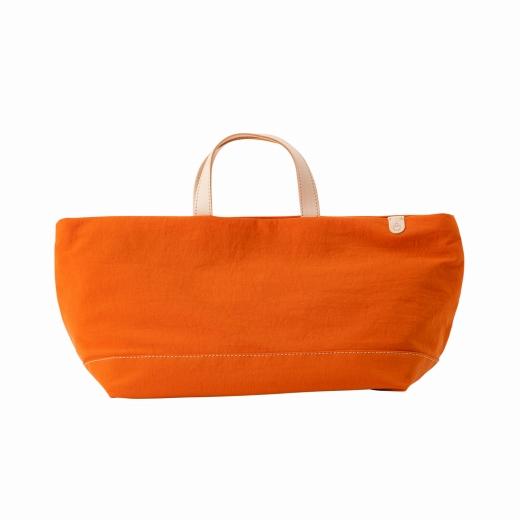 【ふるさと納税】トートバッグ 豊岡鞄 snapvegi ヨコトート(オレンジ)/ カバン かばん