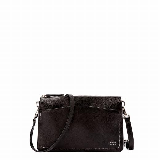 【ふるさと納税】ショルダー 豊岡鞄 calm 三層ショルダー(ブラック)/ カバン かばん ショルダーバッグ