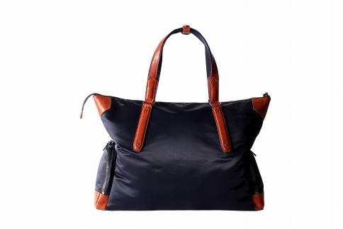【ふるさと納税】トートバッグ 豊岡鞄 TRV0801-50(ネイビー)/ カバン かばん