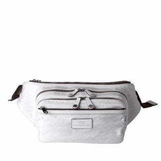 【ふるさと納税】ウエストバッグ 豊岡鞄 CSRC-003(ホワイト)/ カバン かばん ボディバッグ・ワンショルダー