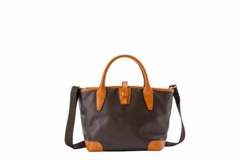 【ふるさと納税】ミニトート 豊岡鞄 BK19-105-28(ブラウン)/ カバン かばん トートバッグ