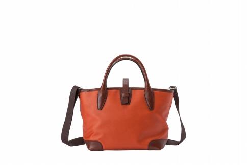 【ふるさと納税】ミニトート 豊岡鞄 BK19-105-80(オレンジ)/ カバン かばん トートバッグ