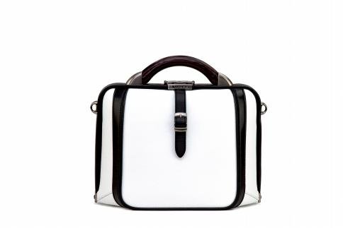 【ふるさと納税】2wayダレスバッグ 豊岡鞄 DS0-TE-42(ホワイト)/ カバン かばん 手提げ