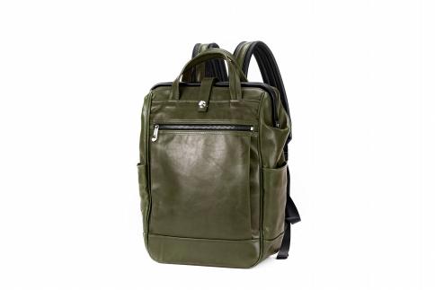 【ふるさと納税】リュックサック 豊岡鞄 FW01-102-35(グリーン)/ カバン かばん リュック