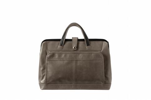 【ふるさと納税】ブリーフケース 豊岡鞄 FW01-105-60(グレー)/ カバン かばん 手提げ