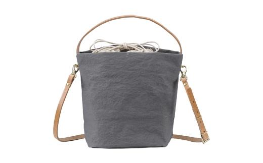 【ふるさと納税】豊岡鞄 TUTUMU cube (S2700 24-175)グレー/ カバン かばん ショルダーバッグ
