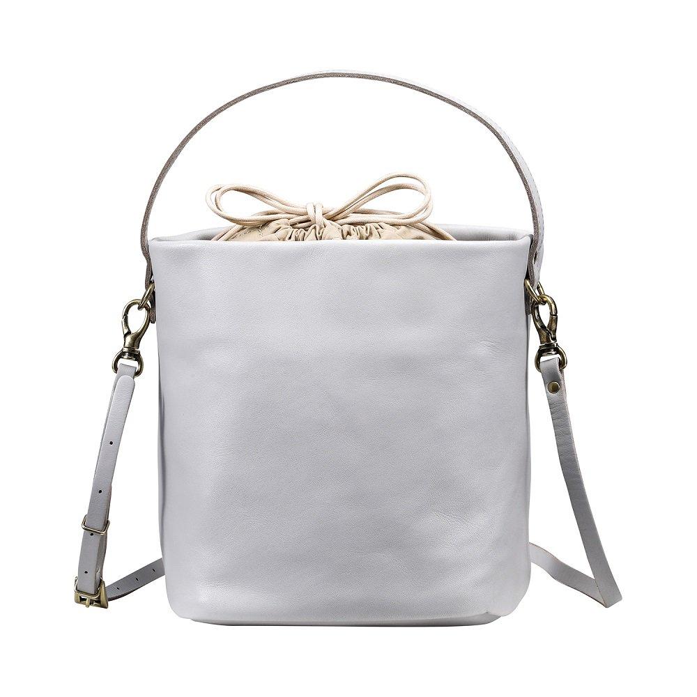 ふるさと納税 豊岡鞄 TUTUMU Leather cubuS2800 24 176 ライトグレーカバン かばん ショルダーバッグEIHWD29