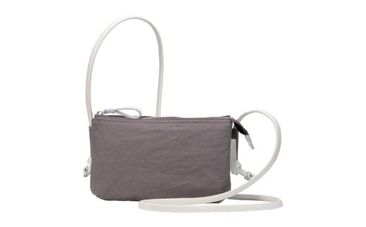 【ふるさと納税】豊岡鞄 TUTUMU Osanpo Wallet(S3100 24-178)グレー/ カバン かばん ショルダーバッグ