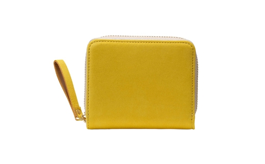 【ふるさと納税】豊岡鞄 TUTUMU Nubuck Z compact Wallet (SW101)マスタード/ カバン かばん