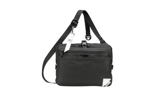 【ふるさと納税】豊岡鞄 CIE WEATHERSHOULDER(071951)ブラック/ カバン かばん ショルダーバッグ