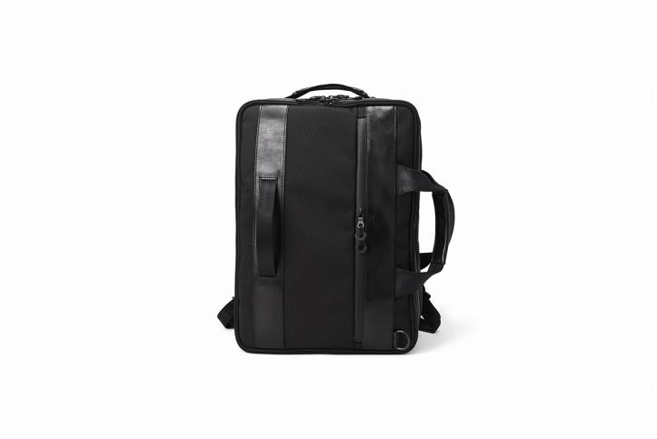 【ふるさと納税】豊岡鞄 Urban Commuter 2x3WAY BRIEF PACK HA(ブラック)/ カバン かばん ビジネスバック