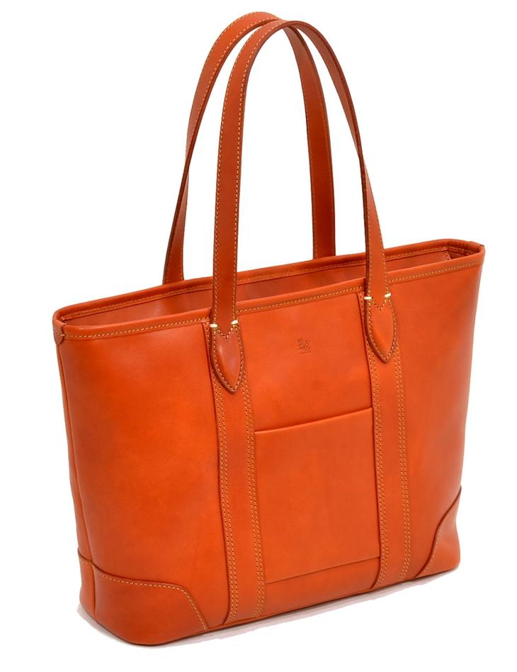 使えば使うほどに色が濃くなり艶もでてきます 【ふるさと納税】七升レザートート(テラコッタ)1-058 / 鞄 カバン かばん トートバック