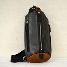 【ふるさと納税】豊岡鞄 帆布PU×皮革ワンショルダー(24-132)ブラック