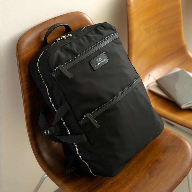 【ふるさと納税】ビジネスリュック 豊岡鞄 CDTC-007(ブラック)/ カバン かばん リュック
