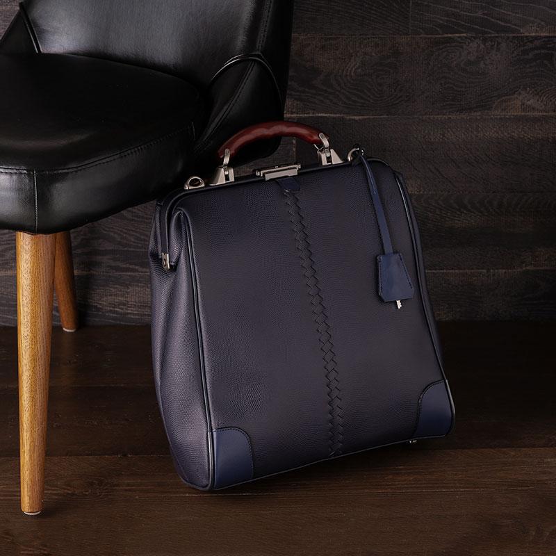 【ふるさと納税】豊岡鞄 YOUTA LIZARD 3WAY 縦ダレス(YK-3M)ネイビー/ カバン かばん リュック