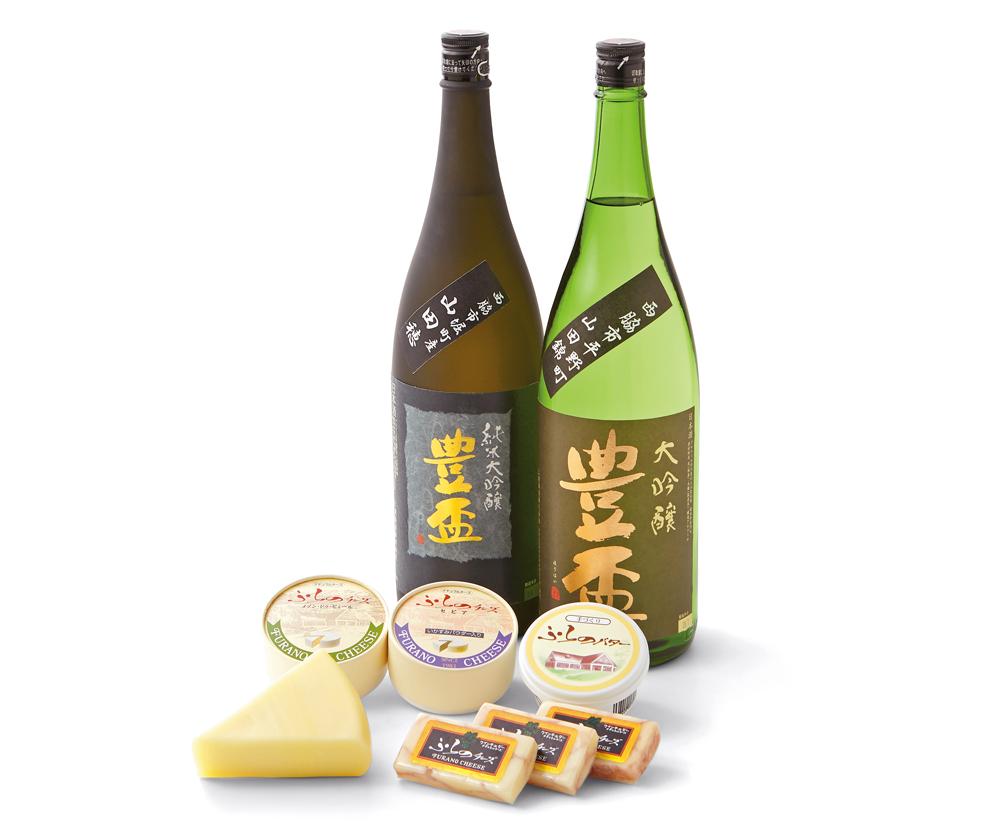 【ふるさと納税】豊盃セット(1,800ml×2本)& 富良野チーズ工房セット