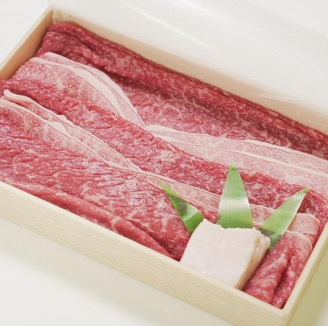 【ふるさと納税】 川岸牧場 神戸ビーフ 牝 モモ・上バラ すきしゃぶ 450g