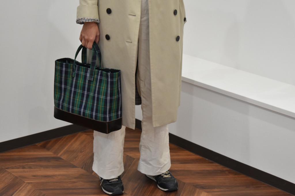 【ふるさと納税】鞄職人が手掛ける【PAGOTタータン マガジントート ワイド】