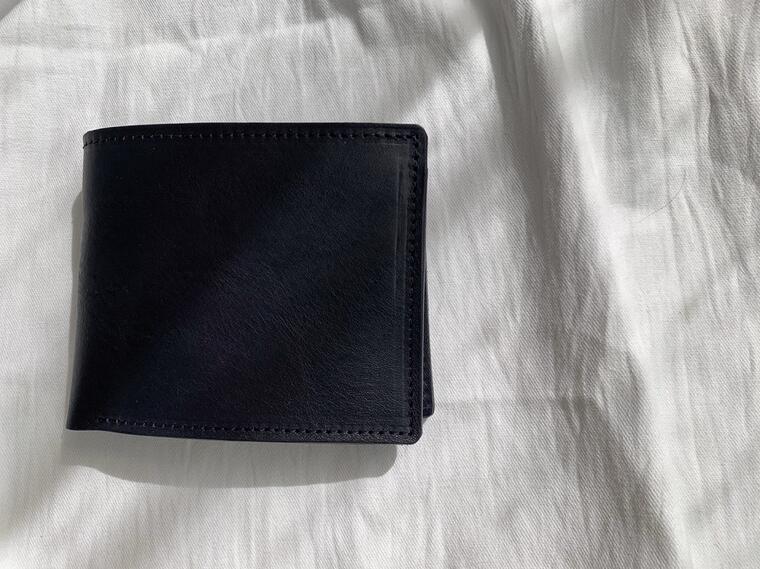 【ふるさと納税】鞄職人が手掛ける【ベーシックウォレット】ネイビー