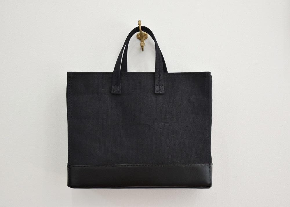 【ふるさと納税】鞄職人が手掛ける【マガジントート ワイド】ブラック