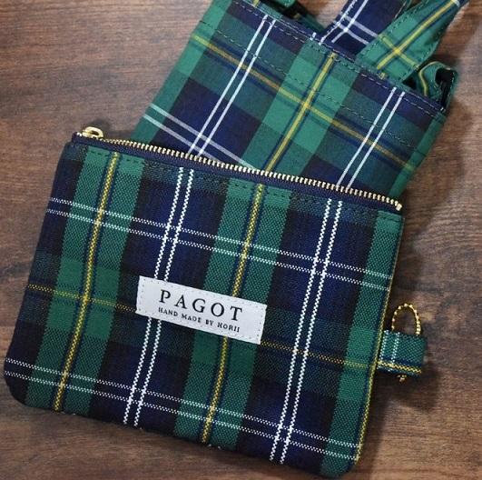 【ふるさと納税】鞄職人が手掛ける【PAGOTタータン エコバッグ】