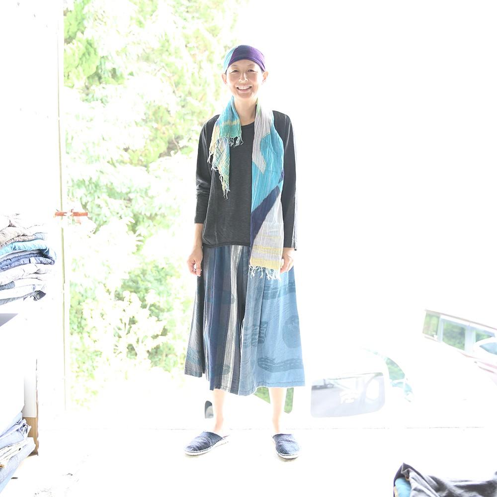 【ふるさと納税】【tamaki niime・イッテンモノ】wide pants SHORT