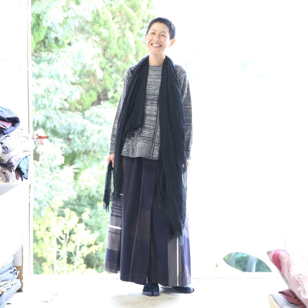 【ふるさと納税】【tamaki niime・イッテンモノ】powan skirt LONG