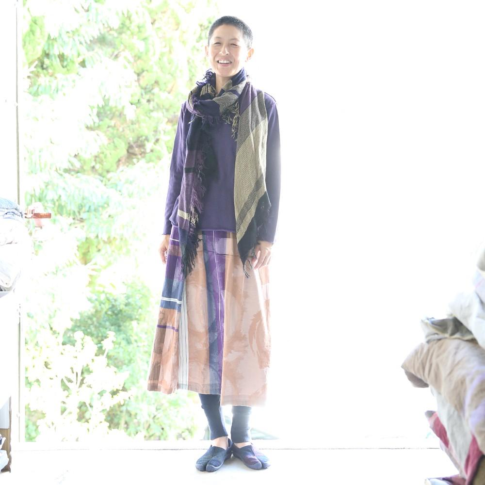 【ふるさと納税】【tamaki niime・イッテンモノ】powan skirt SHORT