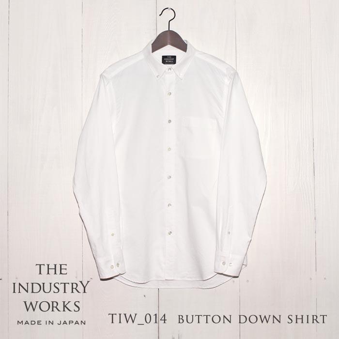 【ふるさと納税】播州織メンズシャツ「THE INDUSTRY WORKS」(ホワイト)