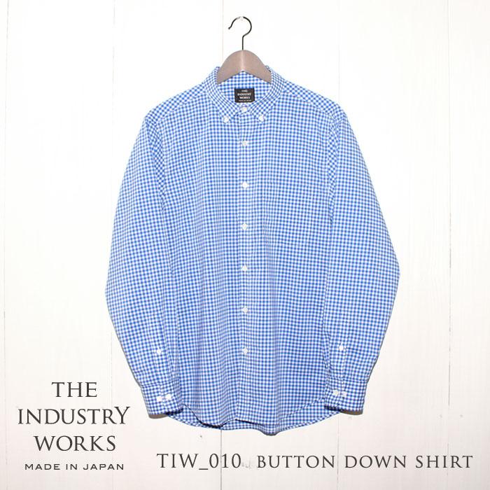 【ふるさと納税】播州織メンズシャツ「THE INDUSTRY WORKS」(ブルー×ホワイト)