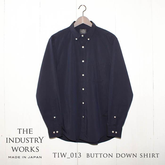 【ふるさと納税】播州織メンズシャツ「THE INDUSTRY WORKS」(ネイビー)