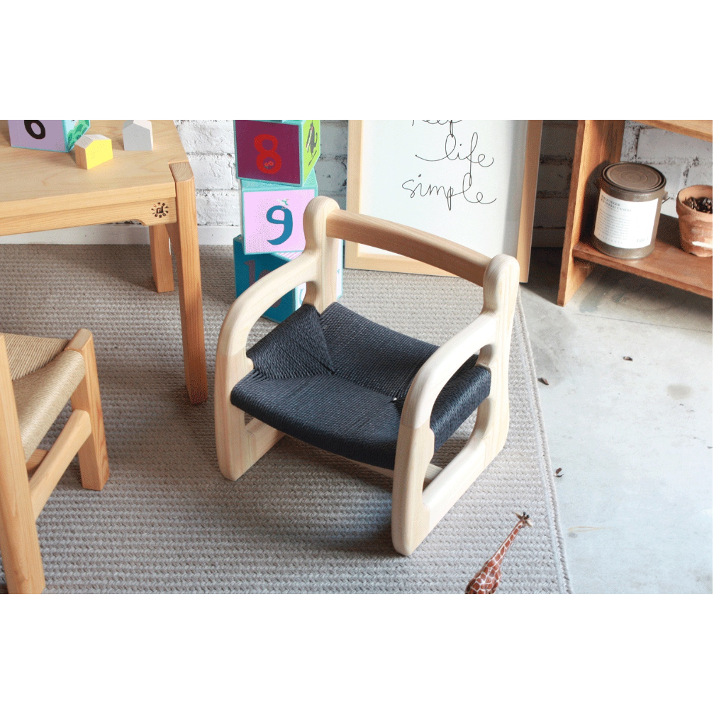 【ふるさと納税】赤ちゃん椅子ami 特別仕様 座面ブラック【ベビーチェア】