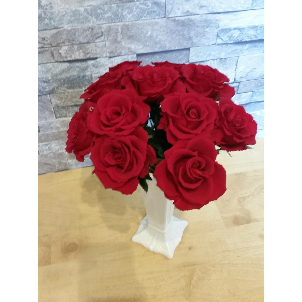【ふるさと納税】 プリザーブドフラワー 大きなバラの花束11本