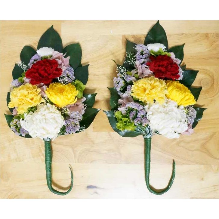 【ふるさと納税】プリザーブドフラワー 仏花一対(ご自宅の花器へ挿込用)【プリザーブドフラワー】