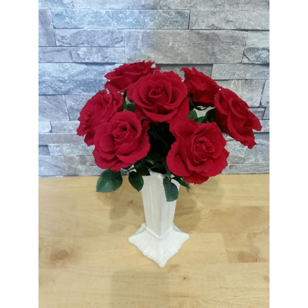 【ふるさと納税】プリザーブドフラワー 大きなバラの花束7本