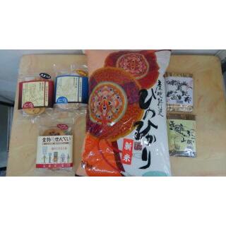 【ふるさと納税】米・佃煮・煎餅(せんべい)6点セット