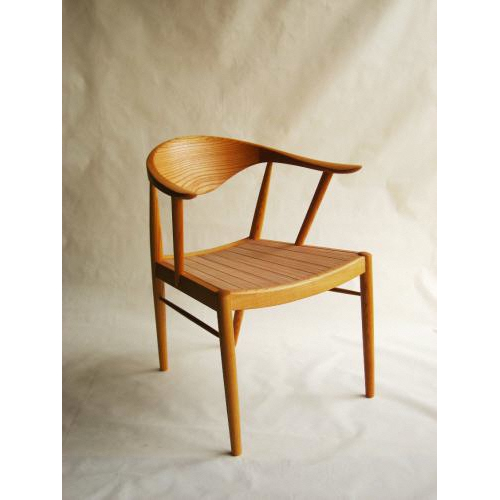 【ふるさと納税】TataraF-type オイル仕上げ(座面:革)【椅子】