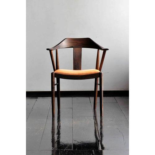 【ふるさと納税】TataraM-type 鉄染め仕上げ(座面:板)【椅子】