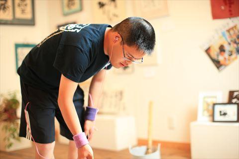 【ふるさと納税】世界に一つだけの障がい者アートの書道作品:橋本直樹
