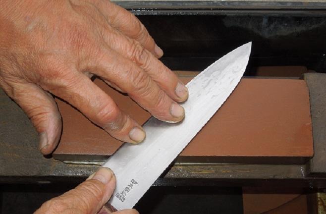 【ふるさと納税】【包丁】包丁とぎ2本(刃長19cm以下)【包丁とぎ】