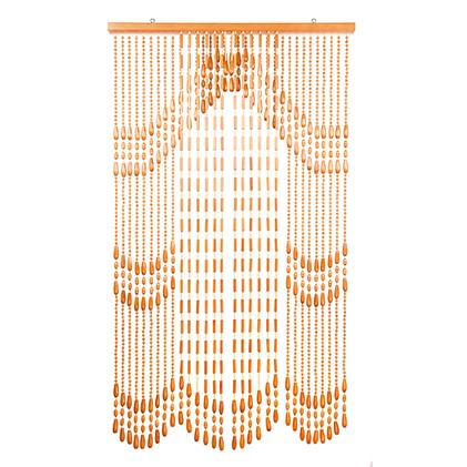 【ふるさと納税】伝統の珠のれん富士山柄[開閉式]、FO-3ベージュ85x150cm 【インテリア】