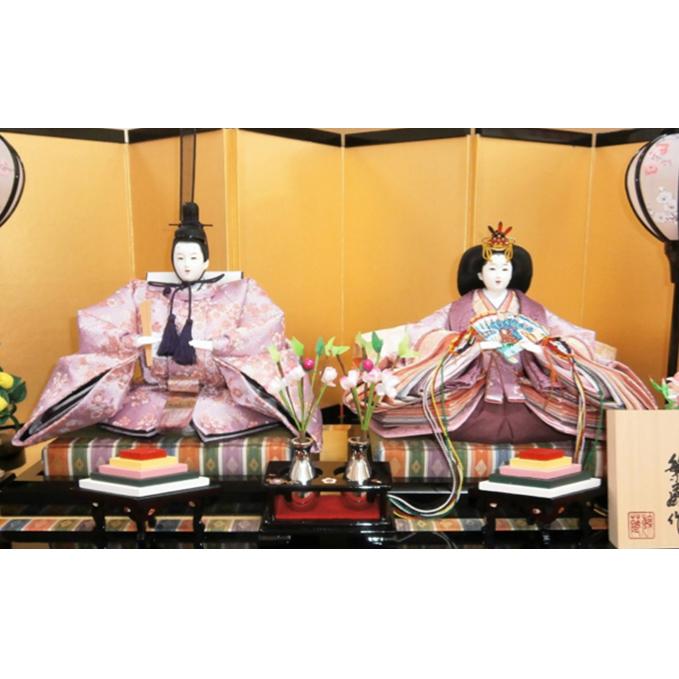 【ふるさと納税】雛人形 「洛黎桜花」 親王飾り  【ひな人形】