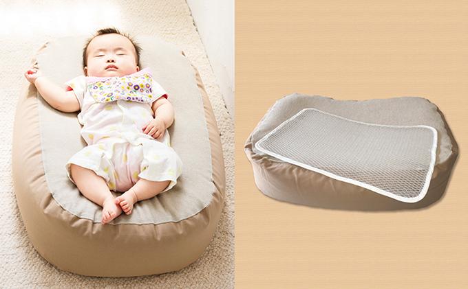 【ふるさと納税】Cカーブ授乳ベッドおやすみたまご・新型エアメッシュセット 【ベビー用品・ベビーグッズ】