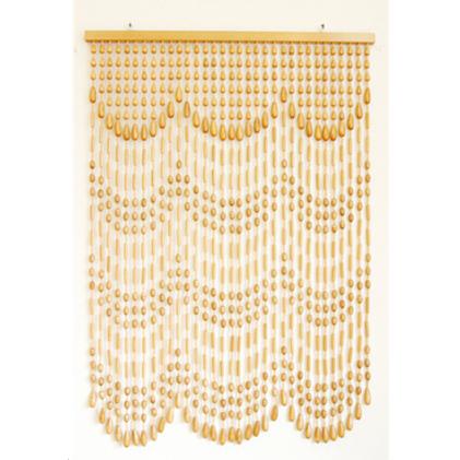 【ふるさと納税】木珠のれん S-412 ベージュ 【雑貨・日用品・インテリア・暖簾・家具】