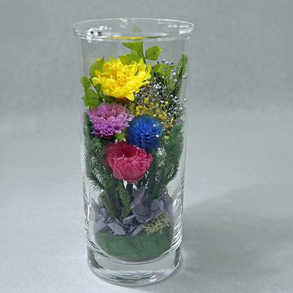 【ふるさと納税】仏花 ボトルフラワー(プリザーブドフラワー) 【インテリア・植物】