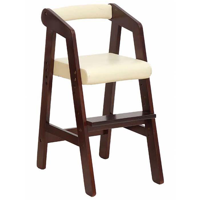 【ふるさと納税】キッズハイチェアー(ダークブラウン)【家具/インテリア/赤ちゃん用品・子供用・椅子・イス】